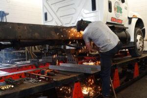 Rudy Schmid Employee Conducting Fleet Repair in Syracuse NY