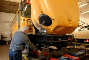 PJ maintaining a fleet of busses in Syracuse NY