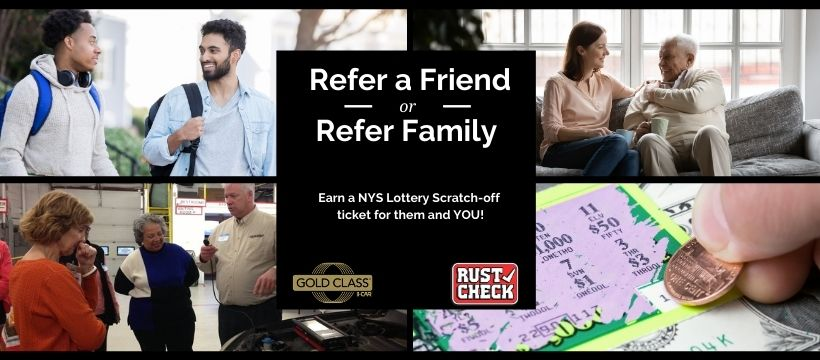 Rudy Schmid Auto Repair and Maintenance Referral Program Refer a Friend or Refer Family Earn a NYS Lottery Scratch-off  ticket for them and YOU!